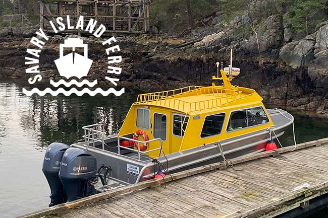 Savary Island Ferry Water Taxi and Transportation